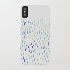 Watercolor Mink - Mint & Sapphire iPhone X Slim Case