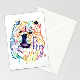 Chow Chow Dog Watercolor Painting By Lisa Whitehouse Stationery Cards