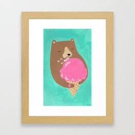 We all dream of ice cream Framed Art Print