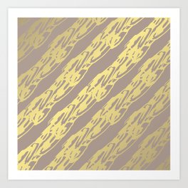 Golden Waves Art Print