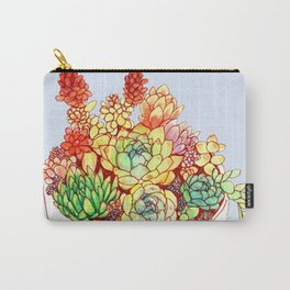 Watercolor Succulents Carry-All Pouch