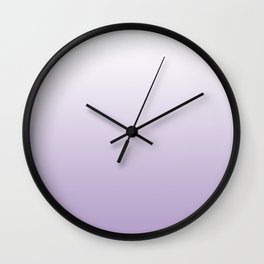 Lavender and White Gradient Wall Clock