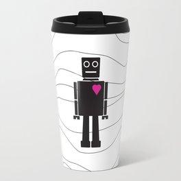Robot Heart Travel Mug