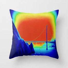 bridging realities Throw Pillow