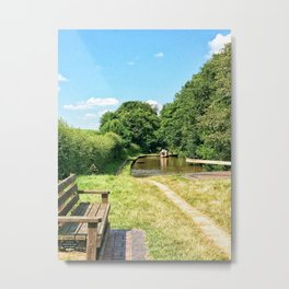 Lazy Days and Waterways Metal Print