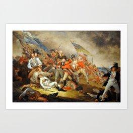 John Trumbull - The Death of General Warren at the Battle of Bunker Hill, 17 June 1775 Art Print
