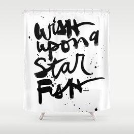 Wish Upon A Starfish Shower Curtain