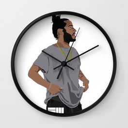 Russ Cartoon2 Wall Clock