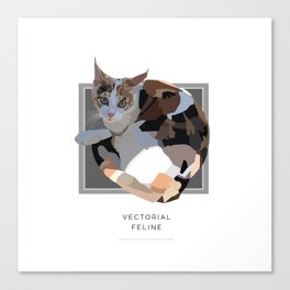 Vectorial Feline Canvas Print