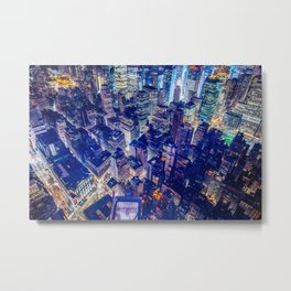 Manhattan From Above Metal Print