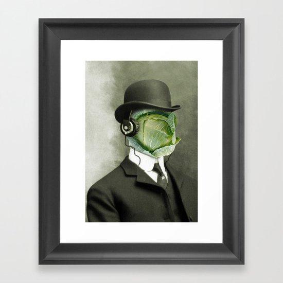 Bowler cabbage Framed Art Print