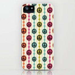 Peace Signs Hippie Beaded Curtain iPhone Case