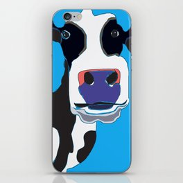Cow in the Blue Sky iPhone Skin