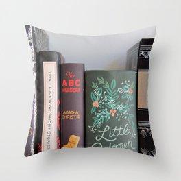 Shelfie in Black Throw Pillow