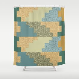 Shapes and dots Shower Curtain