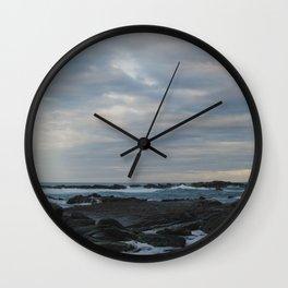kaikoura shore I Wall Clock