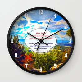 Shout for Joy! Wall Clock