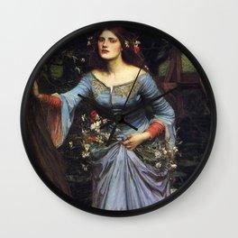 John William Waterhouse Ophelia 1894 Wall Clock