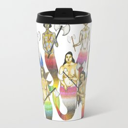 mermaids with axes Travel Mug