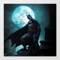 bat man Canvas Prints featuring BAT man by Electra