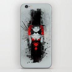 Top Hat Lady iPhone & iPod Skin