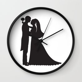 Groome And Bride PNG Wall Clock
