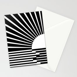 White rays Stationery Cards