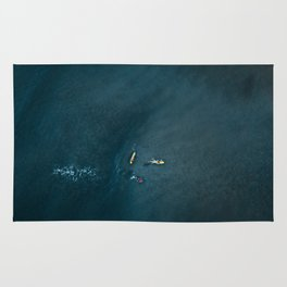 Surfers from Above Rug