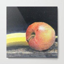 Apple and Banana Metal Print