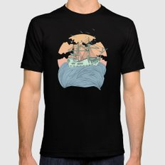 Mother Nature Mens Fitted Tee MEDIUM Black