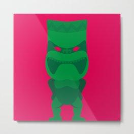 Green Tiki Metal Print
