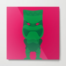 Green Tiki Metal Print