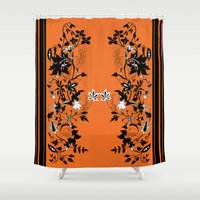 baroque Shower Curtains featuring baroque by Maria Fernanda Furtado