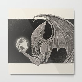 Cthulhu, Master of the Universe // Warm Tone Metal Print