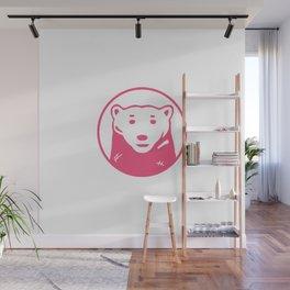 pink bear Wall Mural