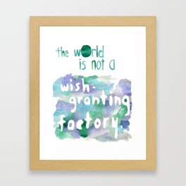 wish-granting factory Framed Art Print