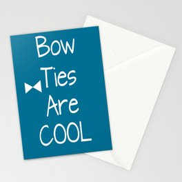 DOCTOR WHO Bow Ties Are Cool Teal Stationery Cards