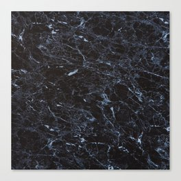 Dark blue Water Marble Canvas Print