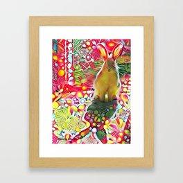 Stalker Rabbit Framed Art Print