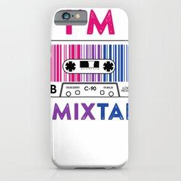 I'm a Mixtape Bisexual Pride LGBT T shirt Lesbian Gay Flag T-Shirt iPhone Case