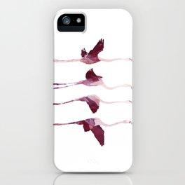 Flying Flamingos iPhone Case