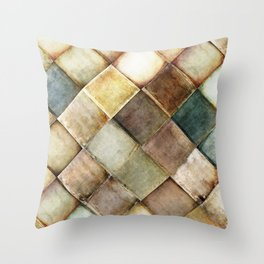 diamond path pattern Throw Pillow