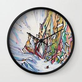 Crushin' Couloirs Wall Clock