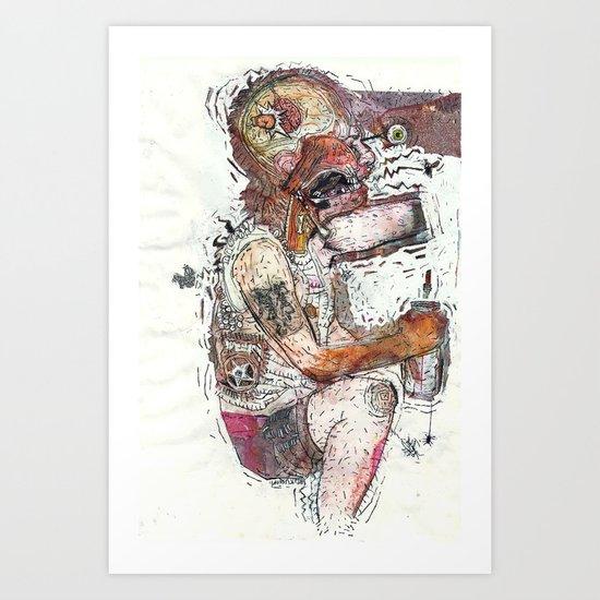 Knock Out Art Print