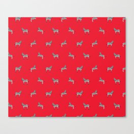 Red Zebras Canvas Print