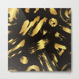 Gold brush Metal Print