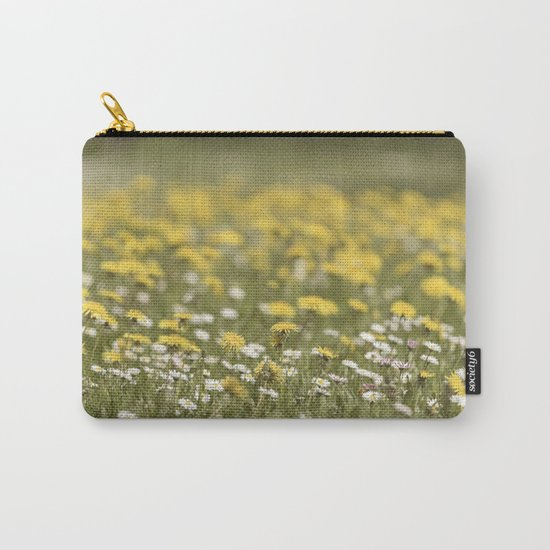 Meadow of happyness Spring flowers - Flower floral #Society6 Carry-All Pouch