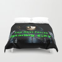 arrow Duvet Covers featuring Arrow by SwanniePhotoArt