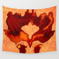 rorschach Wall Tapestries featuring Stain Rorschach by Lord Egon Will
