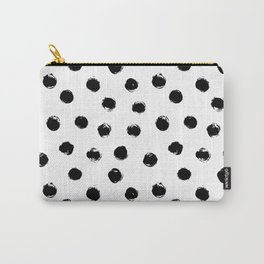 Black Polka Dots I Carry-All Pouch